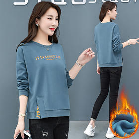 AHM-xde8583新款时尚气质宽松显瘦加厚加绒上衣TZF