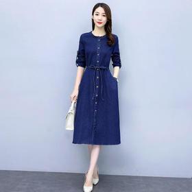 CQ-BBL3187 2020秋季新款简约时尚气质连衣裙