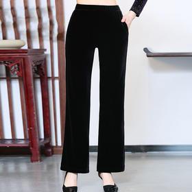 CMY5729新款时尚气质松紧腰金丝绒阔腿裤TZF