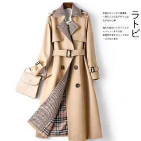 AHM-yrm9053新款潮流时尚气质收腰系带中长款风衣外套TZF