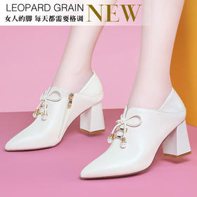 MLKL9746新款时尚气质休闲尖头粗高跟短靴TZF