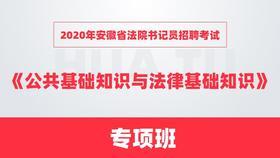 2020年安徽省法院书记员招聘考试《公共基础知识与法律基础知识》专项班