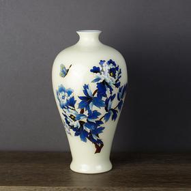 花开富贵金丝釉梅瓶