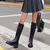 safiya索菲娅 黑夜骑士长筒靴反扣侧拉链骑士靴SF04117305 商品缩略图6