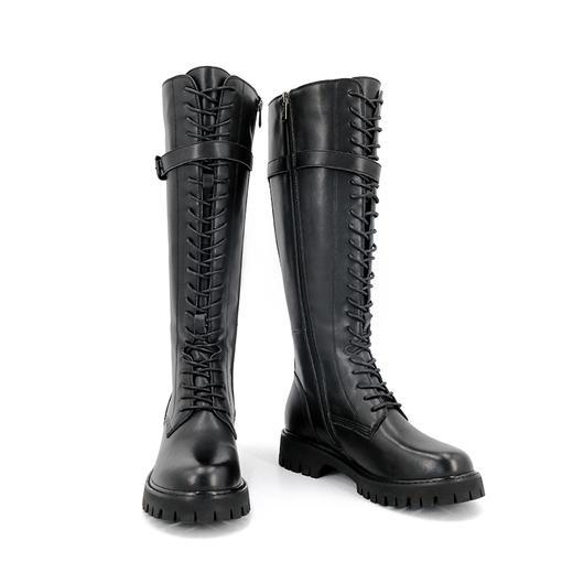 safiya索菲娅 黑夜骑士长筒靴反扣侧拉链骑士靴SF04117305 商品图2