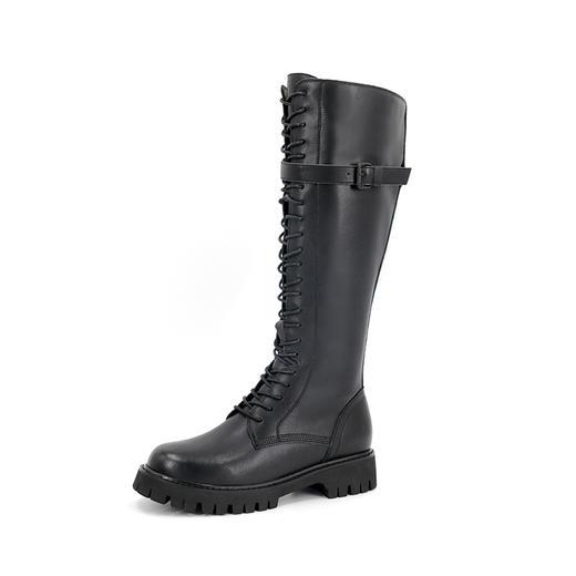 safiya索菲娅 黑夜骑士长筒靴反扣侧拉链骑士靴SF04117305 商品图0