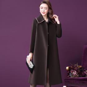WXY-LD-82021W新款时尚优雅气质中长款羊毛大衣外套TZF