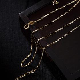 CWSS新款时尚气质个性百搭镀金O型复古简约锁骨链TZF