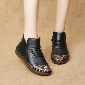 MLD397新款时尚气质休闲加绒保暖软底防滑耐磨短靴TZF