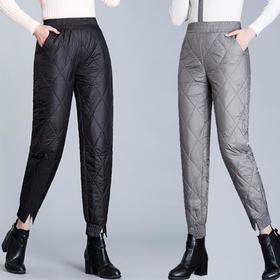 MQ1758-2015新款时尚气质休闲高腰羽绒棉防风保暖束脚裤TZF