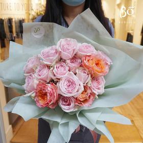 粉色纯玫瑰11枝/19枝/33枝/52枝