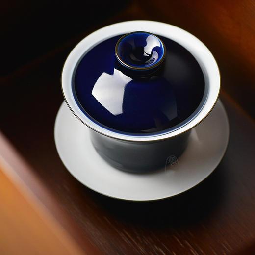 蓝和白 祭蓝釉盖碗 商品图1