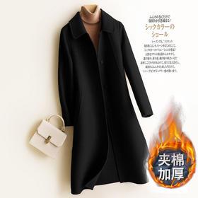 【清仓特价 不退不换】SCMY8253新款时尚修身夹棉加厚毛呢大衣TZF