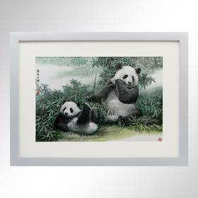 【少量现货】大熊猫走向世界150周年-银版画