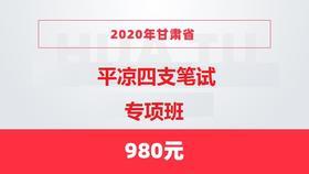 2020年甘肃省平凉四支笔试专项班
