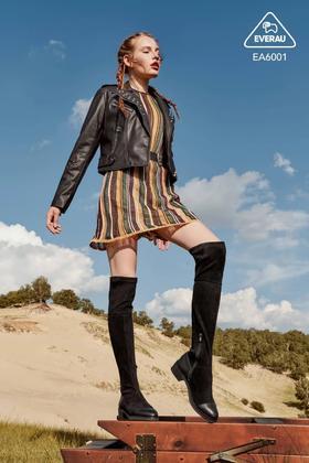 澳洲 EVER UGG秋冬过膝靴女网红ins长筒靴显瘦弹力瘦瘦靴 EA6001