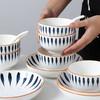【为思礼】「日式手绘瓷器餐具」16件套日式和风千叶草手绘餐具套装 盘子/碗 商品缩略图8