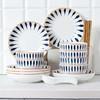 【为思礼】「日式手绘瓷器餐具」16件套日式和风千叶草手绘餐具套装 盘子/碗 商品缩略图7