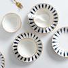 【为思礼】「日式手绘瓷器餐具」16件套日式和风千叶草手绘餐具套装 盘子/碗 商品缩略图10