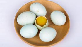 郧阳绿壳土鸡蛋50枚精美竹篮装