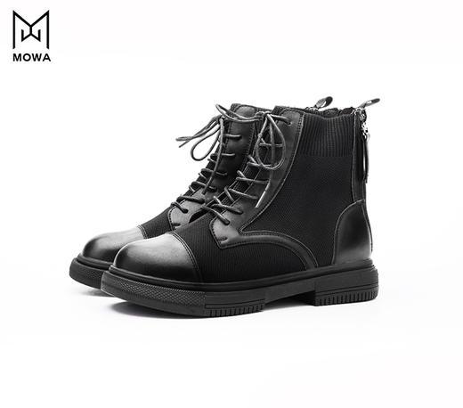 墨瓦亲子viva飞织牛皮马丁靴 商品图0