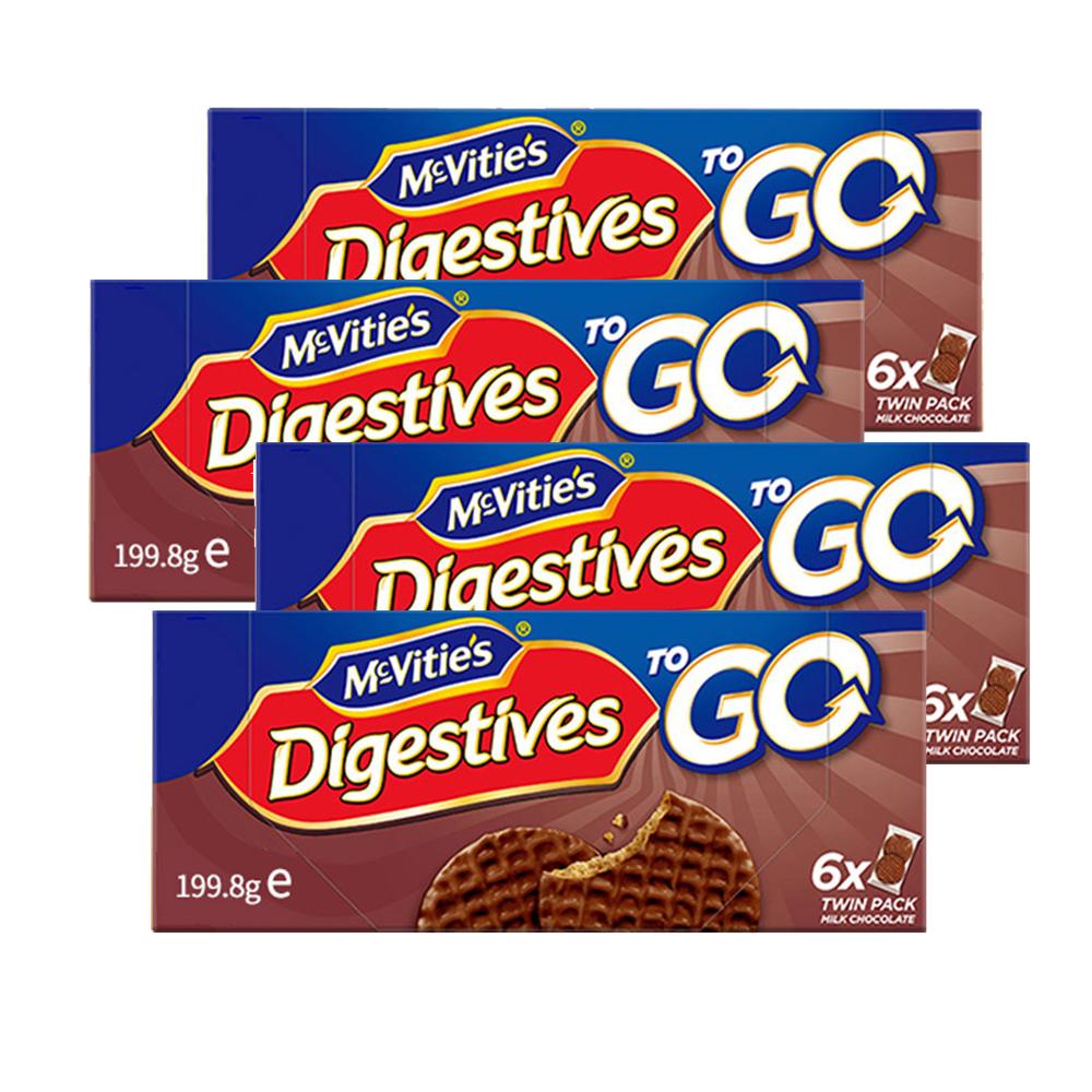 麦维他巧克力消化饼分享装4包装 商品图0