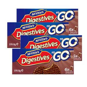 麦维他巧克力消化饼分享装4包装