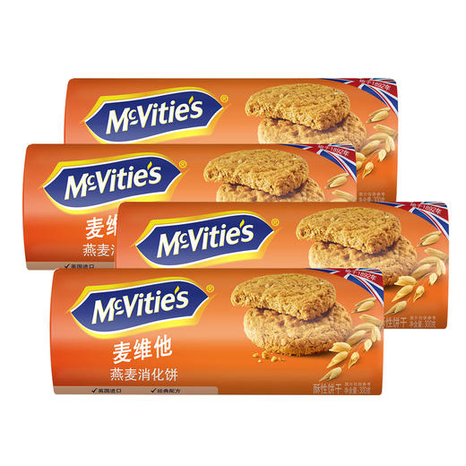 麦维他燕麦消化饼4包装 商品图0