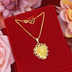 NY-NYW002317新款时尚个性黄铜镀金小桃心项链TZF