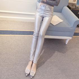 PDD-YHS201018新款时尚气质高腰显瘦加绒哑光PU涂层皮打底裤TZF