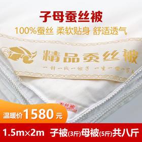 [精选]【预售】100%桑蚕丝被子母被  柔软贴身 舒适透气 四季可用