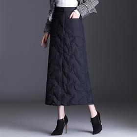 AHM-lbh9196新款时尚气质百搭中长款纯色加厚半身裙TZF