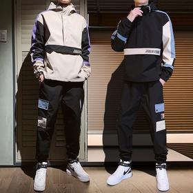 HRMY-TZ825新款男士潮流时尚气质休闲卫衣外套嘻哈裤两件套TZF