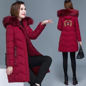 YHSS01285新款时尚洋气连帽加厚中长款棉服外套TZF