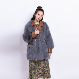 HHYR新款高端时尚气质短款狐狸毛皮大衣外套TZF