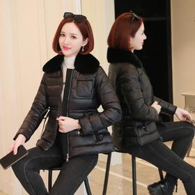 YHSS908885新款时尚优雅气质短款收腰棉服外套TZF