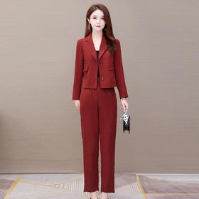 YWE-YXJY-8521新款时尚气质小香风西装外套长裤两件套TZF