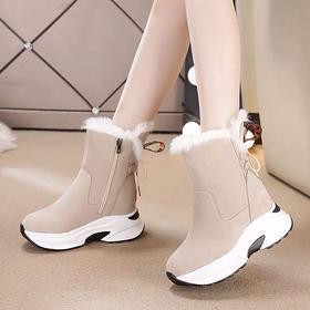 PDD-LRWNX201020新款时尚加绒加厚保暖厚底防滑平底雪地靴TZF