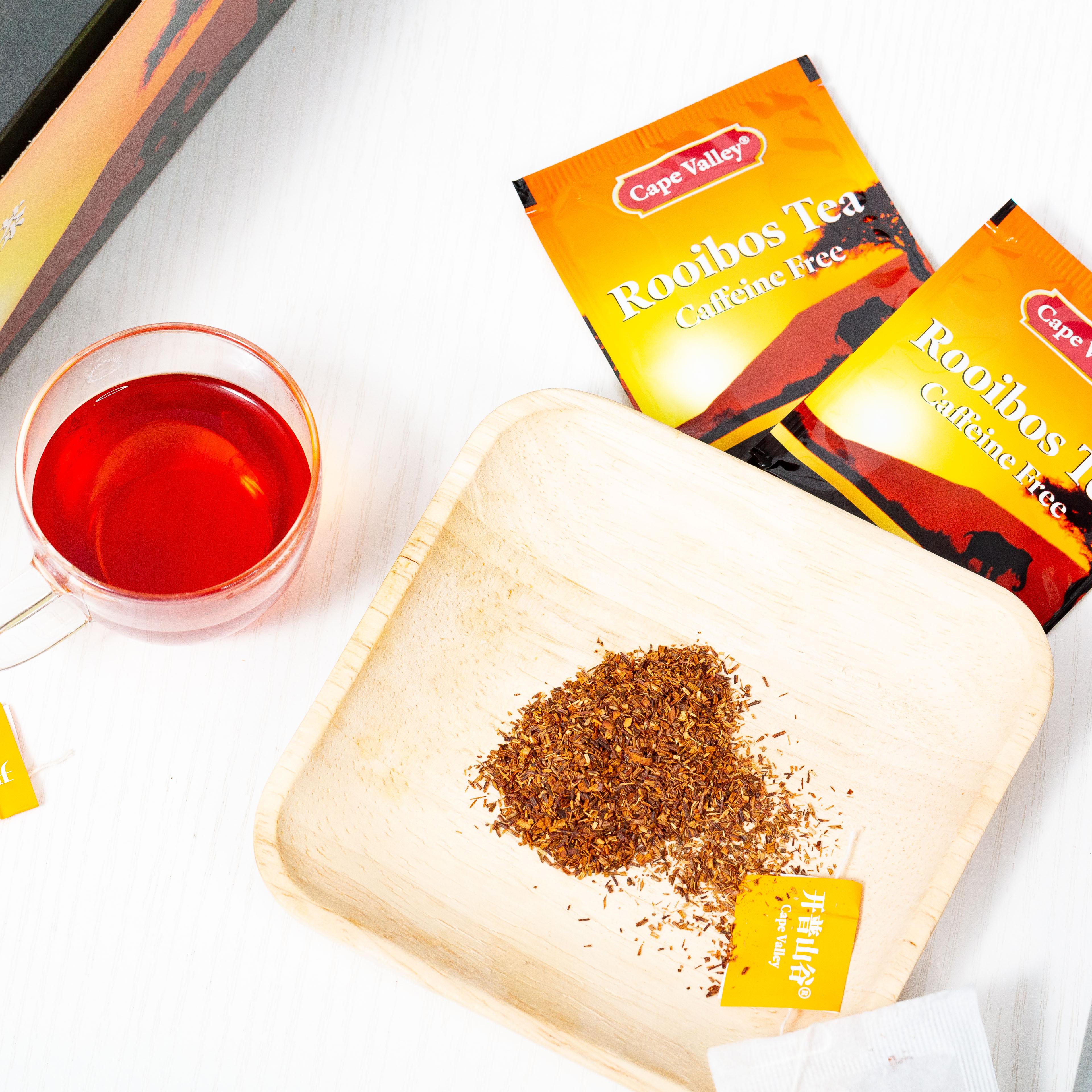 「可以喝的神仙水」开普山谷南非博士茶 Rooibos路易波士国宝红茶无咖啡因 美容养颜  0卡路里 无糖分  孕妇可喝100袋/盒 商品图4