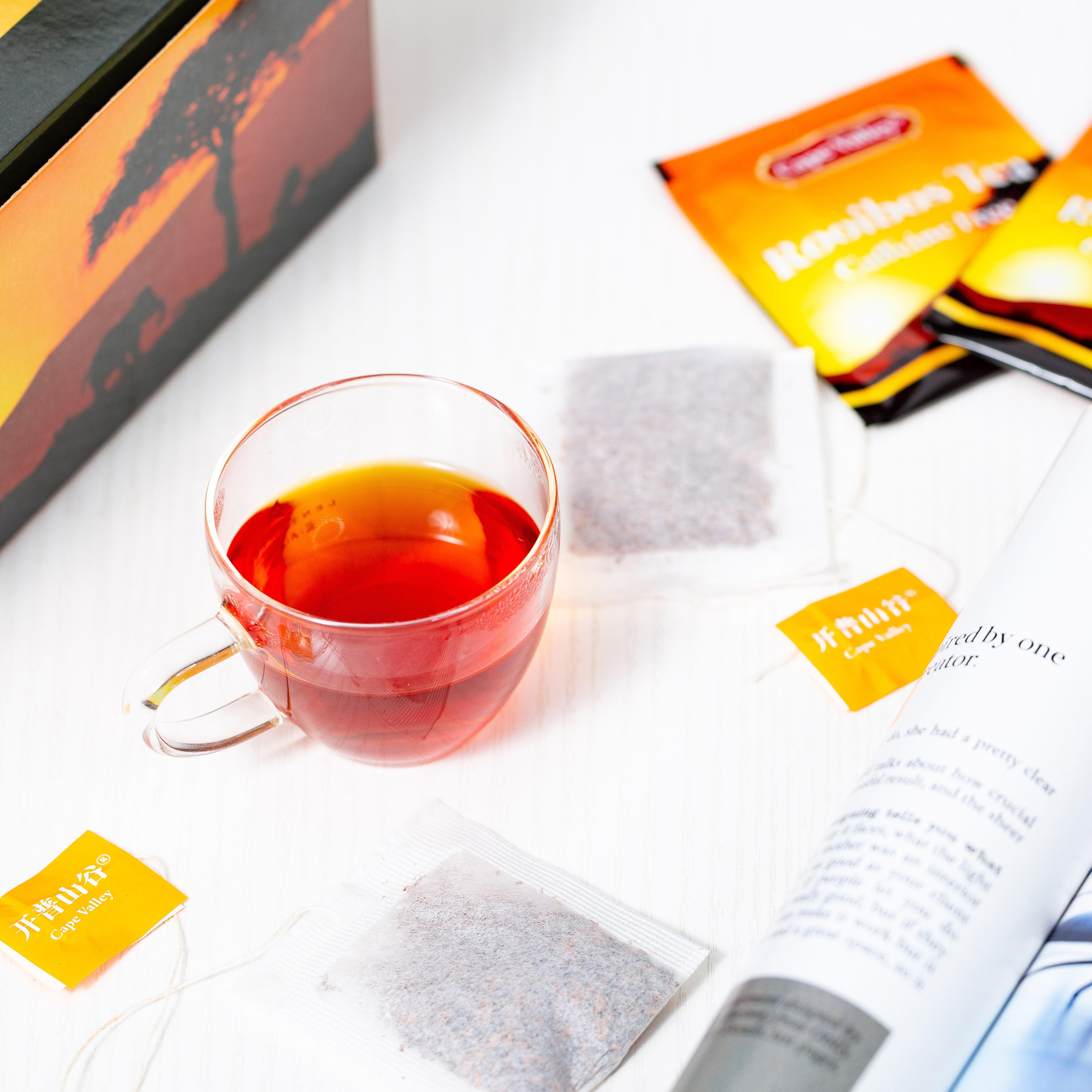 「可以喝的神仙水」开普山谷南非博士茶 Rooibos路易波士国宝红茶无咖啡因 美容养颜  0卡路里 无糖分  孕妇可喝100袋/盒 商品图9