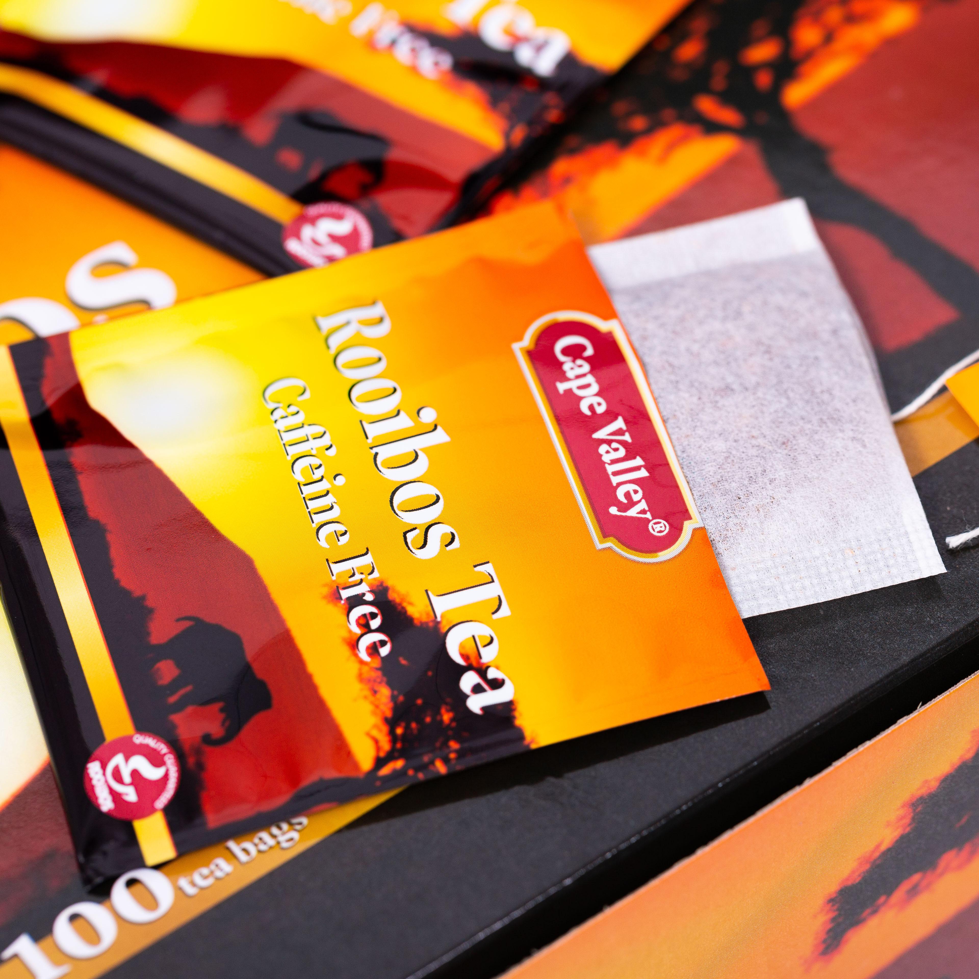 「可以喝的神仙水」开普山谷南非博士茶 Rooibos路易波士国宝红茶无咖啡因 美容养颜  0卡路里 无糖分  孕妇可喝100袋/盒 商品图3