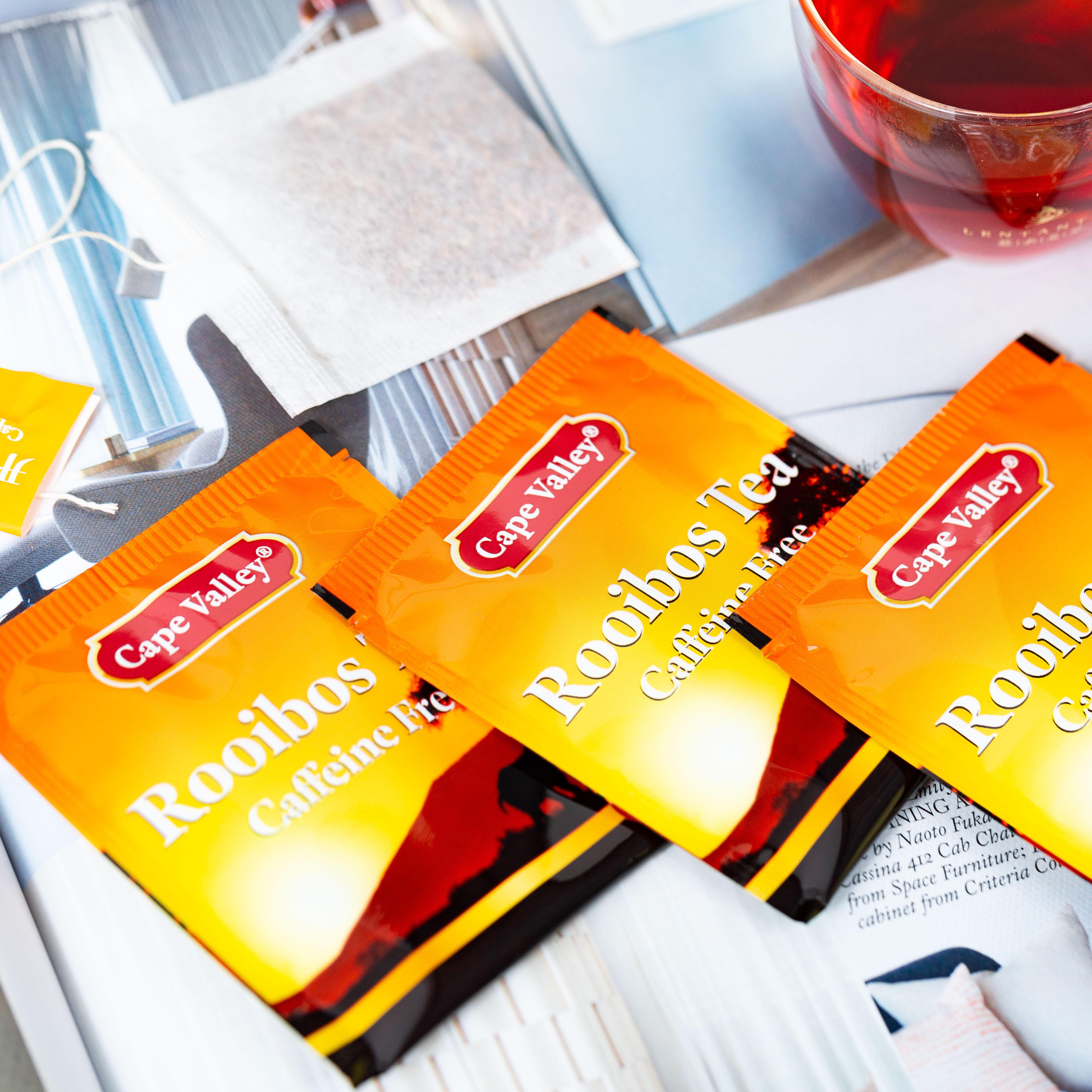 「可以喝的神仙水」开普山谷南非博士茶 Rooibos路易波士国宝红茶无咖啡因 美容养颜  0卡路里 无糖分  孕妇可喝100袋/盒 商品图2