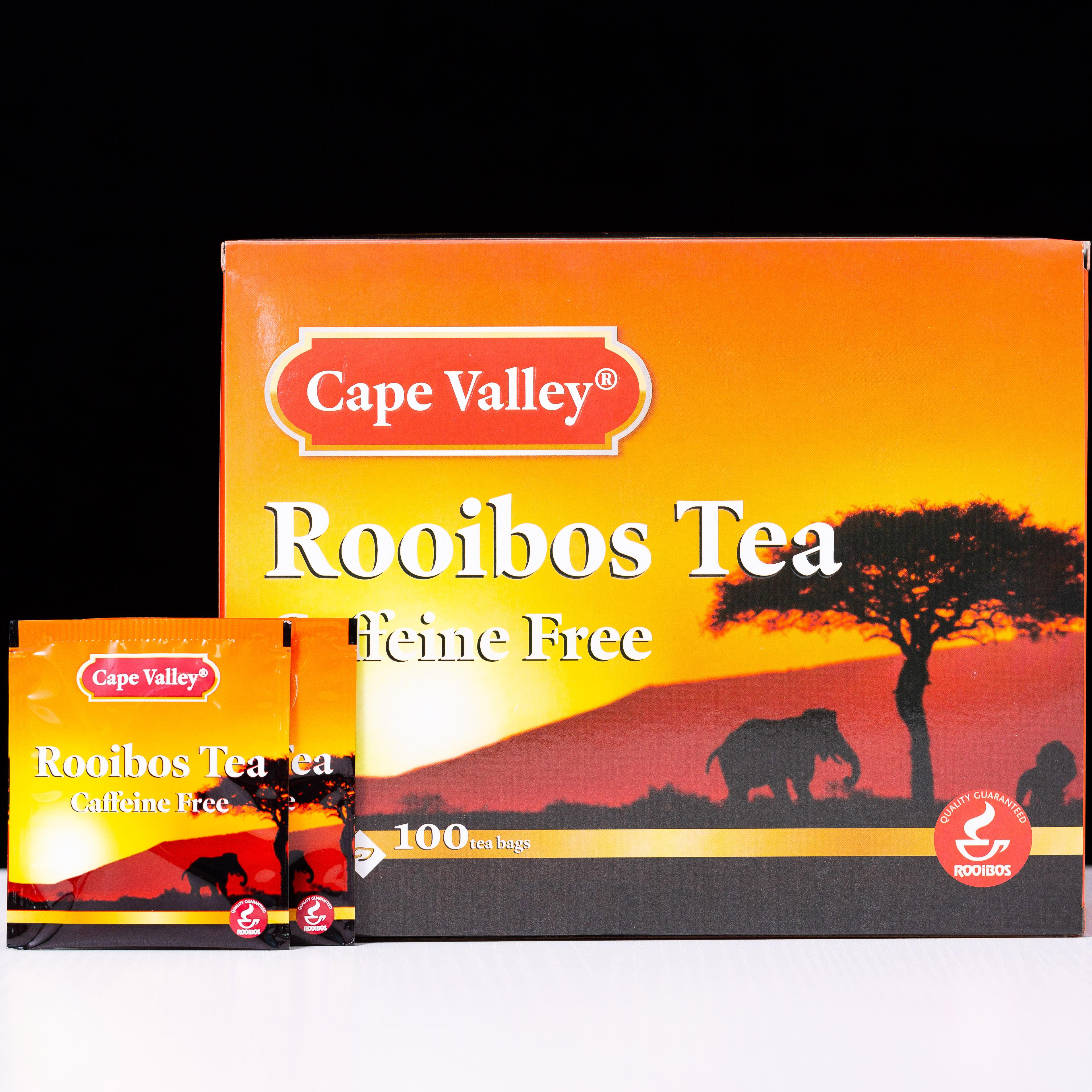 「可以喝的神仙水」开普山谷南非博士茶 Rooibos路易波士国宝红茶无咖啡因 美容养颜  0卡路里 无糖分  孕妇可喝100袋/盒 商品图5