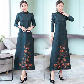 XYXZY-8656秋新款气质优雅收腰显瘦连衣裙TZF
