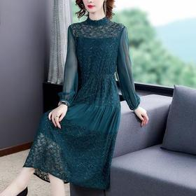 KQL-C302N5002早秋新款女装显瘦洋气减龄连衣裙TZF