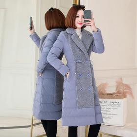 XP-LSNY8828-1新款时尚气质休闲夹棉中长款派克服外套TZF