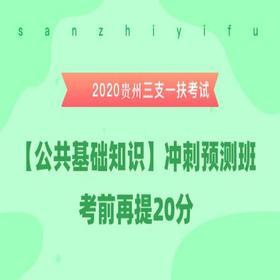 2020贵州三支一扶考试《公共基础知识》冲刺预测班