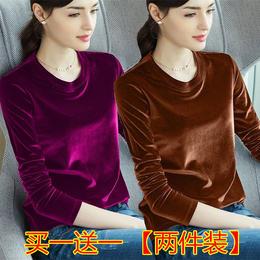 【周年庆买一送一】PDD-YTS201021秋冬保暖丝绒大码打底衫TZF