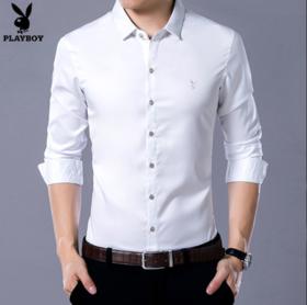 【清仓特价 不退不换】PDD新款男士加绒加厚保暖衬衫商务免烫衬衣TZF