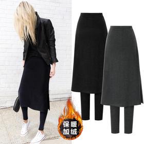 OMW4007新款时尚气质高腰加绒假两件小脚裙裤TZF